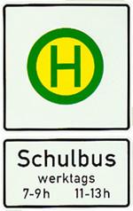 Schild Schulbus