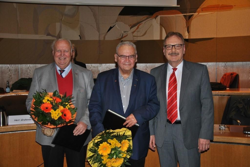 Ehrenlanräte Koch - Liebing + KT-Vorsitzender Grahovac